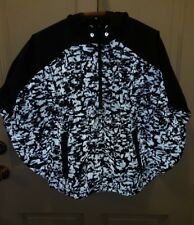 Womens New Balance Running Poncho top, pullover, hooded size small reflective
