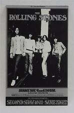 THE ROLLING STONES ORIGINAL BILL GRAHAM  POSTCARD RANDY TUTEN BG201 OAKLAND