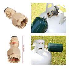 1lb Propane Bottle Tank REFILL KIT LP gas adapter grill heater camping ALL BRASS