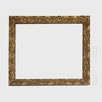 Antique Victorian Wood Picture Frame With Composition Ornament