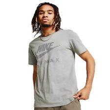 566467684f Para hombres Nike Air Max cuello redondo de la camiseta 100% Algodón Negro Azul  Blanco 809247 AJ1881