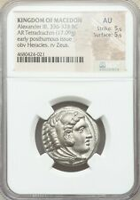 Macedonian Alexander III The Great 336-323 BC Tetradrachm Silver Coin NGC AU