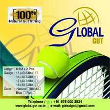 Global Gut -Tennis -Gut Strings-16g-1.32mm-natural-5sets