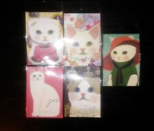 Korean Jetoy Choo Choo Cat Postcard/Invitation/Party Favor/PenPal 5pcs Set 6
