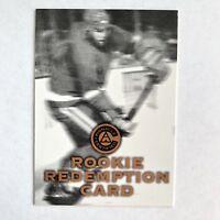 1997 Pinnacle Certified Rookie Redemption Card Letter H NHLPA Hockey US Seller