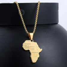 Mens Womens Gold Filled Africa African Map Pendant Necklace Chain