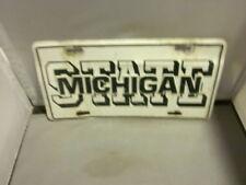 vintage michigan state dealer license plate frame inserts metal - Michigan State License Plate Frame