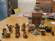 1999 Friends of the Feather figurine Noah'S Ark and extra figures 13 pieces