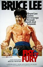 Framed Bruce Lee Movie Print – Fist of Fury 1972 (MMA Martial Arts Picture)