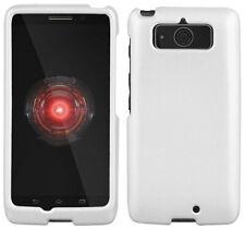 Blanco de Goma Carcasa Funda Rígida Protex Funda para Motorola Droid Mini XT1030