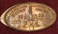 ITALY 1933 CHICAGO WORLDS FAIR COIN • ITALIAN PAVILION Elongated Penny
