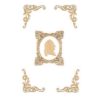 Wings Unfinished Wooden Laser Cut Crafts Supplies DIY Scrapbooking Decor