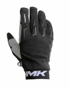 HMK PRO MODEL LIGHT WEIGHT DIRT BIKE OR SNOWMOBILE GLOVES -  BLACK, SMALL