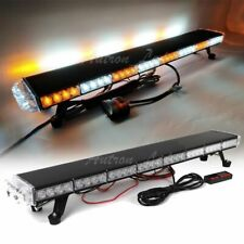 "37"" LED Warning Emergency Beacon Strobe Roof Top Tow Truck Amber White Light Bar"