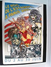 ERRO' GUÔMUNDUR -GRANDE AFFICHE LITHO ART POP - MOIS DE L'ESTAMPE PARIS EN 2003
