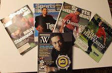 Lot of 4 Tiger Woods golf covers- Sports Illustrated + bonus