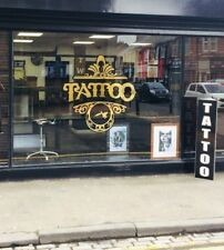 Tattoo Shop Window Stickers Exposition Retail Advertising Signs Custom Idea