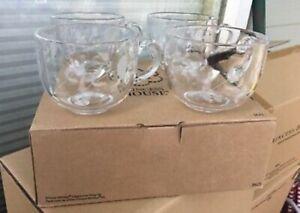 Princess House Heritage Crystal Cappuccino Mugs (3623) HTF