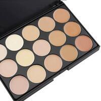 15 Colors Concealer Palette kit Face Makeup Contour Cream Brush Professional LJ