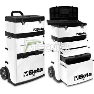 Trolley Beta C41H W Chariot porte-outils à deux modules superposables Blanc