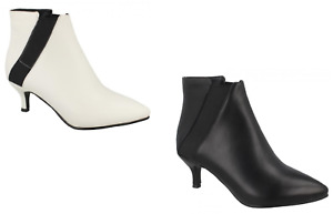 Ladies Spot On Pull on Ankle Boots The Style F5R1080