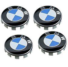 4x colore originale blu si adatta BMW serie più 68mm lega ruota centro tappi 10 Pin