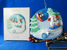 Hallmark Ornament 2008  Downhill Fun Snowman Skiing  Spin A Majigs Collection