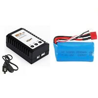 Battery/Charger for Feiyue FY01 FY02 FY03 FY03H FY04 FY05 RC cars 7.4V 1500mAh