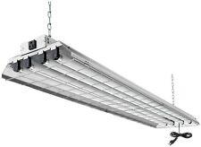 4-Light Grey Fluorescent Heavy-Duty Work Shop Overhead Fixture Bright Hanging