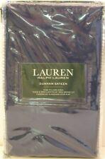 PR Ralph Lauren Cotton Dunham Sateen Pillowcases Cadet Blue Navy King - NEW