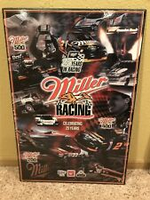 ADVERTISING MILLER BEER CELEBRATING 25 YEARS OF CAR NASCAR RACING PROMO PIcture