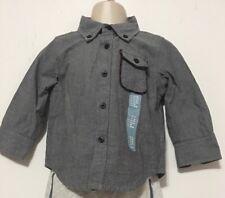 Boy's Baby Gap Dark Blue Chambray Button Up Shirt Size 12-18 months NWT