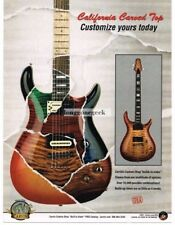 2006 CARVIN California Carved Top Electric Guitar Multi-Color Vtg Print Ad