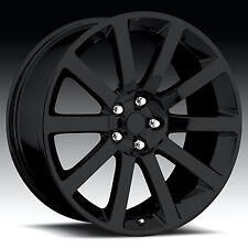 "20x9"" Chrysler 300C SRT8 Charger Magnum Challenger Wheels Gloss Black Rims Dodge"