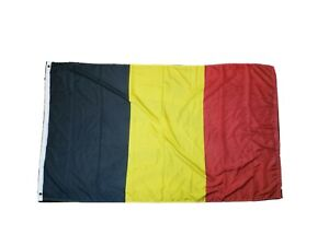 "Full Size Flag Of Belgium 60x35"" Red/Black/Yellow Yard Decor World Europe"
