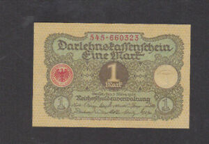 1 MARK AUNC CRISPY BANKNOTE FROM GERMANY 1920 PICK-58