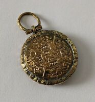 Antique Victorian Yellow metal Carved Locket (mourning?) pinchbeck c19th