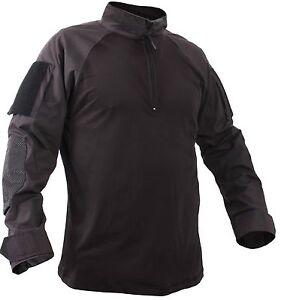 Men's Black Quarter-Zip Tactical Combat Shirt