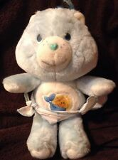 """Vintage Kenner Blue BABY TUGS Bear Care Bears 1983 Diapers 11"""" Excellent Clean"""