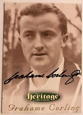 1995 FUTERA HERITAGE CRICKET COLLECTION CARD N0 59/60 SIGNED GRAHAME CORLING