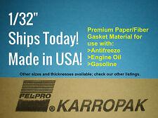 1/32 9x11 Paper Gasket Material Karropak Engine Car Truck Carburetor Gas Oil