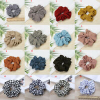 Plaid Checks Hair Bands Rope Scrunchies Hair Ties Accessories Ponytail Holder AU