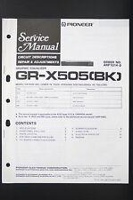 PIONEER gr-x505 BK Circuit description Repair & Adjustments Service-Manual o80