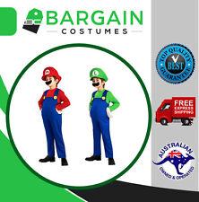 Kids Super Mario Brothers Luigi Fancy Dress Boys Girls Halloween Party Costume