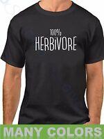 Men's 100% Herbivore T Shirt Vegan Veganism T-Shirt Animal Lovers Veggie Tee