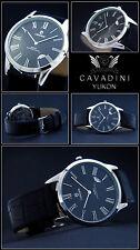Classic Moments Roman Cavadini DESIGNER MEN'S WATCH NEW Sapphire Coated Glass