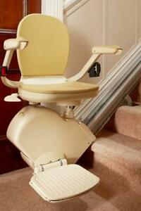 BROOKS STAIRLIFT WITH MANUAL FOLDING RAIL SECTION | STRAIGHT STAIRCASE FITTING