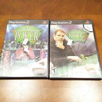 Playstation 2 PS2 Lot of 2 Games World Championship Poker 1 & 2 Howard Lederer