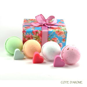 LUXURY GIFT BATH BOMBS Fizzy Huge Bath Bombs-heart soaps, luxury packed gift set