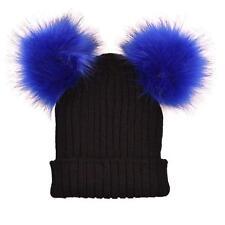 Ladies Women Winter Warm Hats Crochet Knitted Hairball Beanie Cap Hat Ski Cap